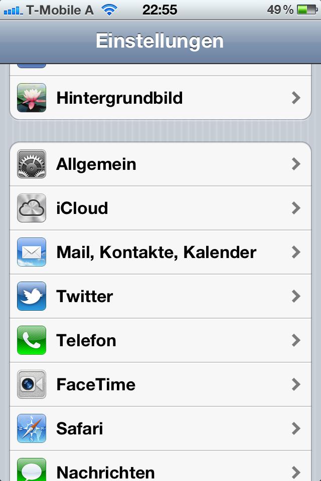 iCal-Kalender aus iphone entfernen