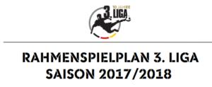 Spielplan 3. Liga 17/18