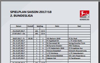 Spielplan 1. Bundesliga PDF 2017-2018